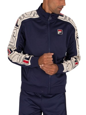 Fila Gatlin Stripe Track Jacket - Peacoat/Turtle Dove/Red