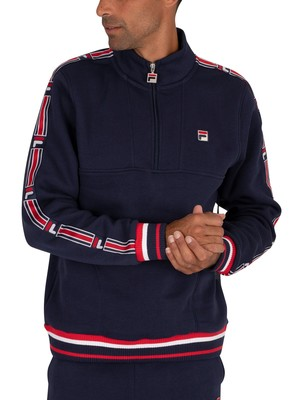 Fila Murray 1/4 Zip Track Jacket - Peacoat/Red/White
