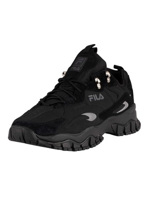 Fila Ray Tracer Trainers - Black/Black/Black