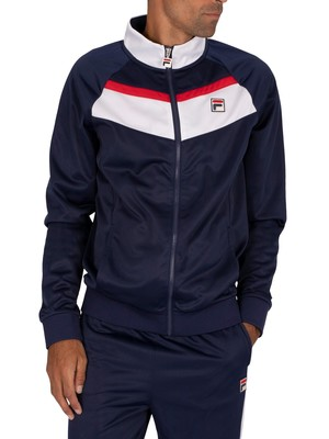 Fila Rudra Colour Blocked Raglan Track Jacket - Peacoat/White/Red