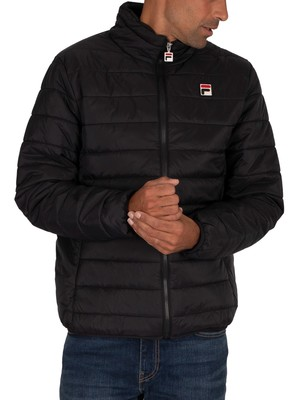 Fila Skip Block Puffer Jacket - Black