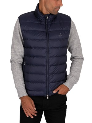 GANT Light Down Gilet - Evening Blue