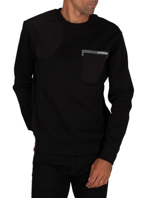G-Star Hunting Patch Sweatshirt - Dark Black