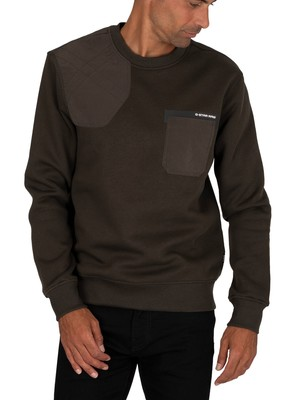 G-Star Hunting Patch Sweatshirt - Asfalt