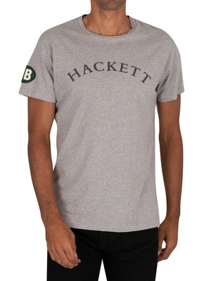 Hackett London GBK Graphic T-Shirt - Grey Marl