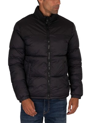 Jack & Jones Drew Puffer Collar Jacket - Black
