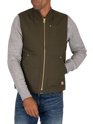 Jack & Jones Wally Bodywarmer Jacket - Forest Night