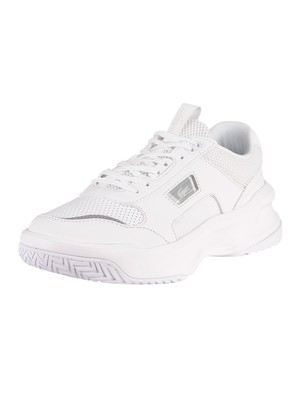 Lacoste Ace Lift 0320 2 SMA Leather Trainers - White/White