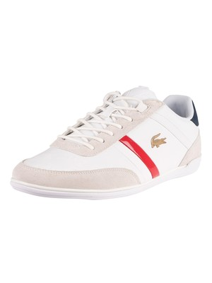 Lacoste Giron 0320 1 CMA Suede Trainers - White/Navy