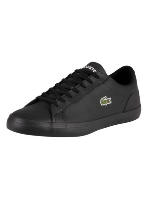 Lacoste Lerond 0120 1 Leather Trainers - Black/Black