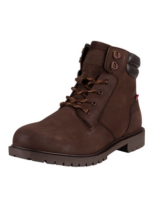 Levi's Hodges 2.0 Leather Boots - Dark Brown