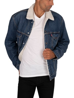 Levi's Vintage Fit Sherpa Trucker Jacket - Dark