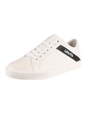 Levi's Woodward Leather Trainers - Regular White