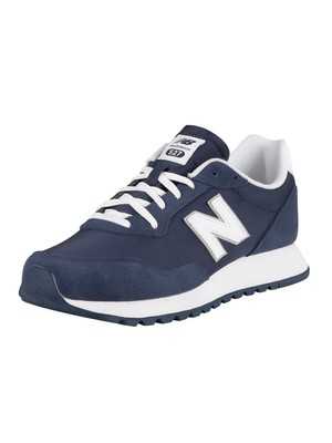 New Balance 527 Suede Trainers - White/Natural Indigo