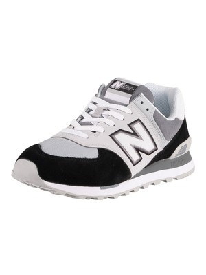 New Balance 574 Sky Lite Suede Trainers - Black/White