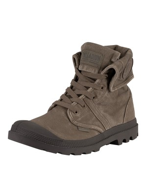Palladium Pallabrouse Baggy Canvas Boots - Major Brown