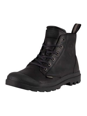Palladium Pampa Leather Boots - Black/Black