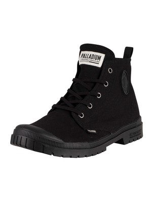 Palladium Pampa SP20 Hi Canvas Boots - Black/Black