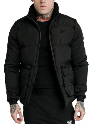 Sik Silk Neo Instinct Puffer Jacket - Black