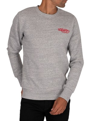 Superdry Athletics Crew Sweatshirt - Soft Grey Marl