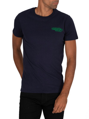 Superdry Athletics Micro T-Shirt - Nautical Navy