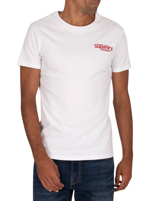 Superdry Athletics Micro T-Shirt - Optic