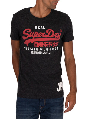 Superdry Duo T-Shirt - Black Snow Heather
