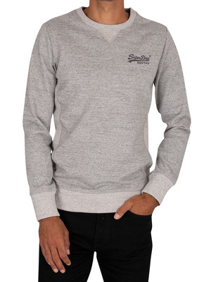 Superdry Interest Crew Sweatshirt - Grey Slub Grindle