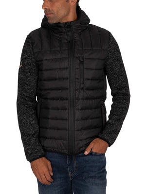 Superdry Storm Hybrid Zip Jacket - Black