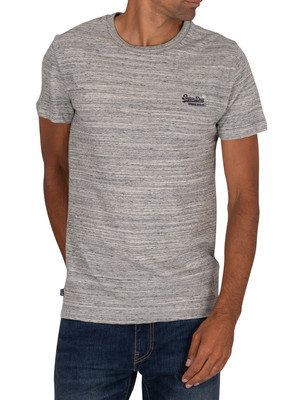 Superdry Vintage EMB T-Shirt - Coastal Grey Space Dye