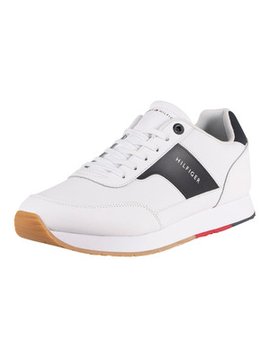 Tommy Hilfiger Corporate Leather Runner Trainers - White