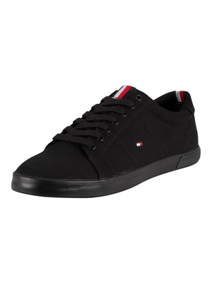 Tommy Hilfiger Harlow Canvas Trainers - Black/Black