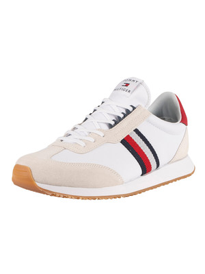 Tommy Hilfiger Lo Mix Runner Stripes Trainers - White