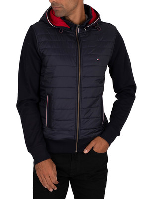 Tommy Hilfiger Mixed Media Hooded Zip Jacket - Desert Sky