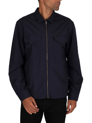 Tommy Hilfiger Peached Nylon Overshirt - Desert Sky