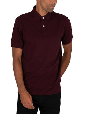 Tommy Hilfiger Regular Polo Shirt - Deep Burgundy
