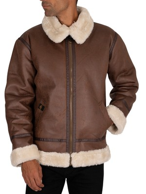 Alpha Industries B3 Flight Jacket - Brown