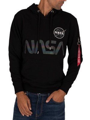Alpha Industries NASA Rainbow Ref Pullover Hoodie - Black