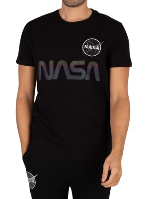 Alpha Industries NASA Rainbow Ref T-Shirt - Black