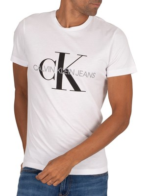 Calvin Klein Jeans Iconic Monogram T-Shirt - Bright White