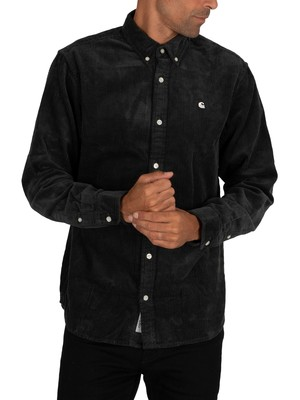 Carhartt WIP Madison Cord Shirt - Dark Teal/Wax