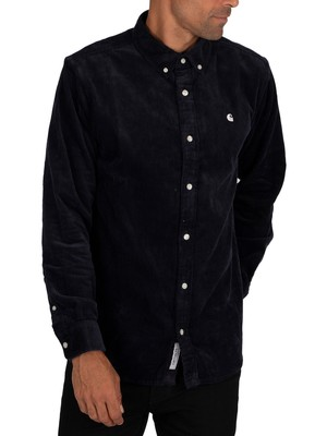 Carhartt WIP Madison Cord Shirt - Dark Navy/Wax