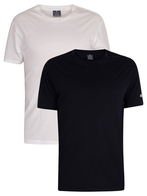 Champion 2 Pack Crew T-Shirt - White/Navy