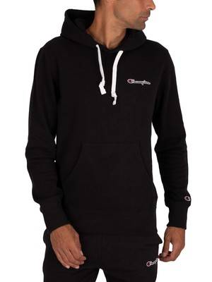 Champion Chest Logo Pullover Hoodie - Black