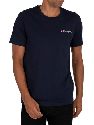 Champion Chest Logo T-shirt - Navy