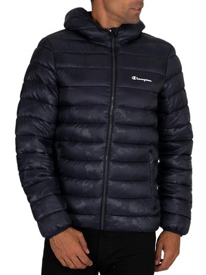 Champion Hooded Puffer Jacket - Navy