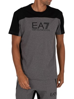 EA7 Graphic T-Shirt - Dark Grey Mel