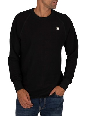 G-Star Jirgi Tape Detail Longsleeved T-Shirt - Dark Black/Raven