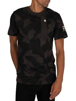 G-Star Tape Camo T-Shirt - Raven