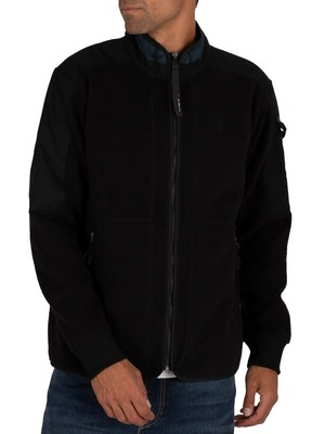 G-Star Tech Fleece Zip Sweatshirt - Dark Black